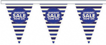 January Sale Style 6 Superior Bunting 5m (16') Long With 12 Flags
